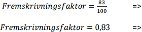 fremskrivningsfaktor-beregning