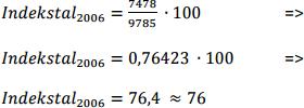 indekstal-beregning