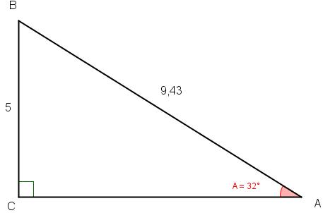 beregning af retvinklet trekant