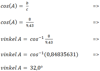 Vinkel beregning