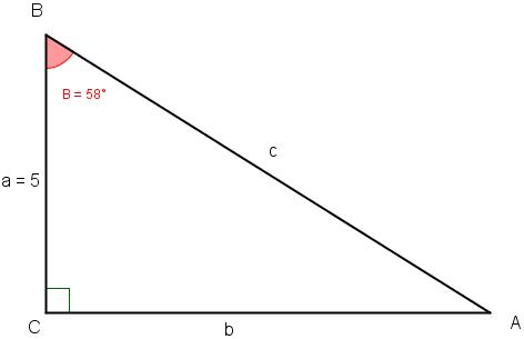 retvinklet trekant beregner