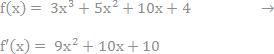den differentierede funtion listes nu